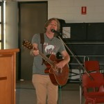 Steve Bevis leading the sing-a-long