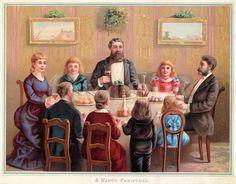 Victorian Family - Christmas Dinner